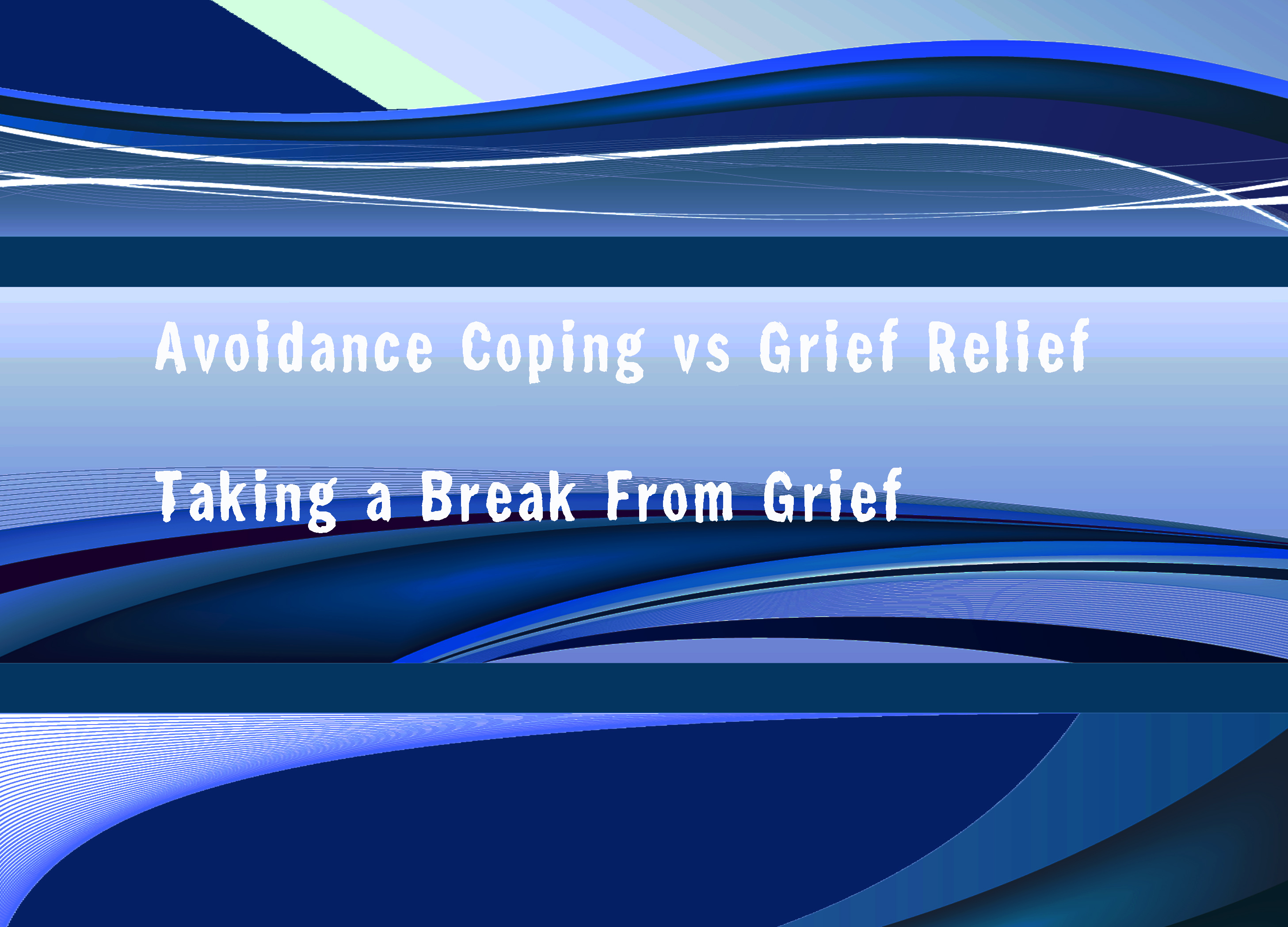 how to stop avoidance coping