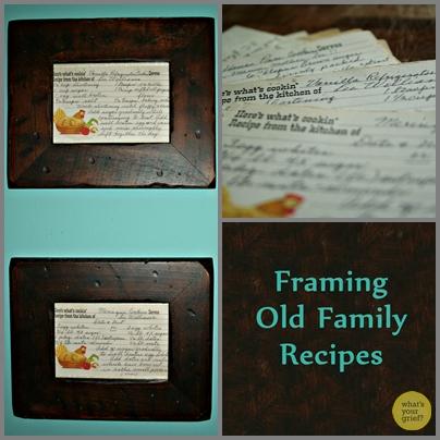 Framing Family Recipes