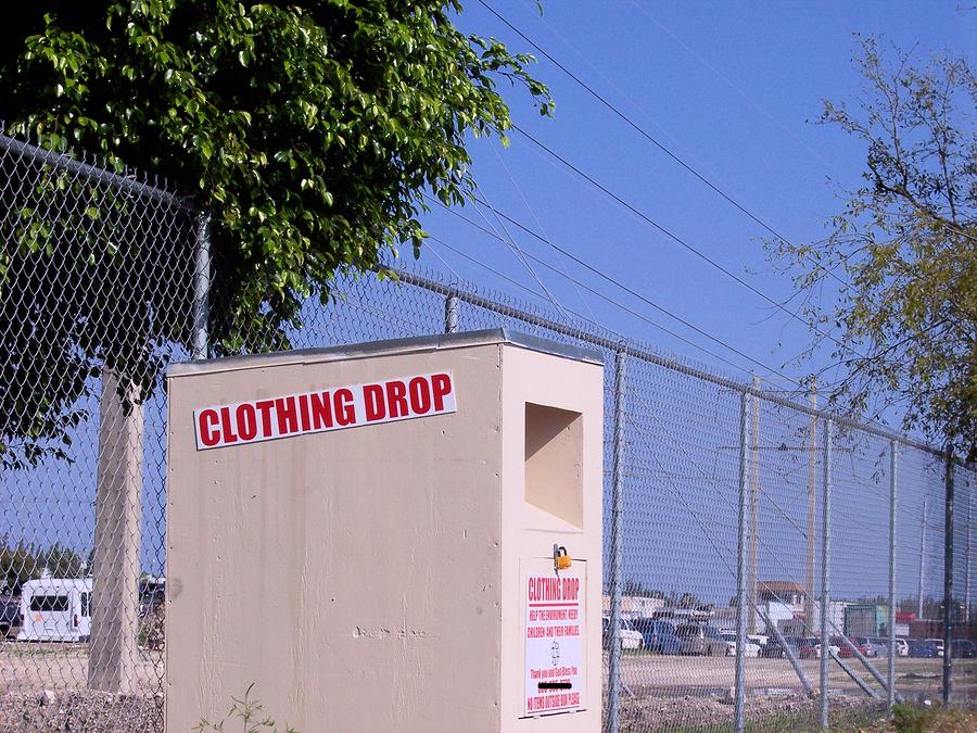 clothing drop box
