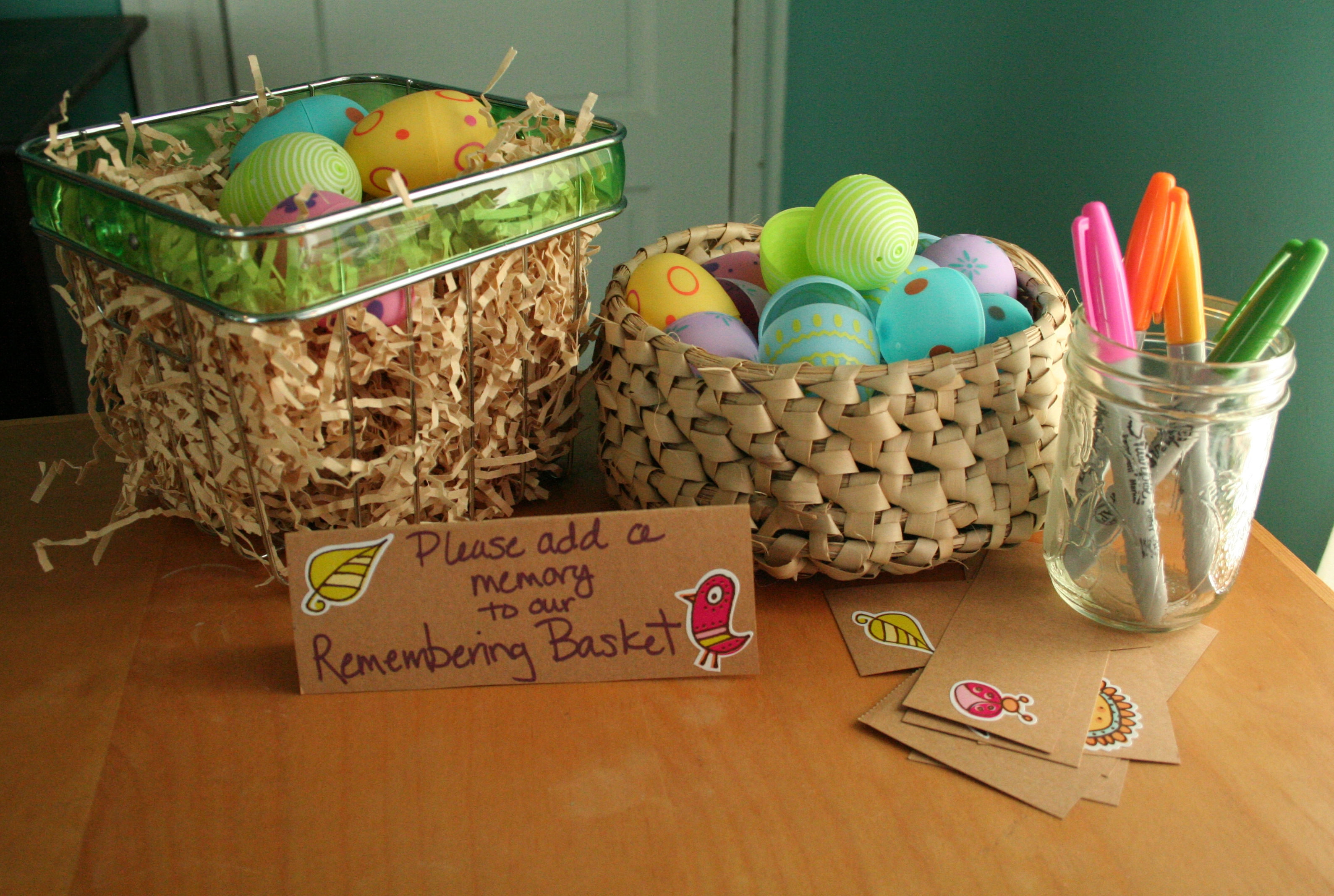easter remembering basket