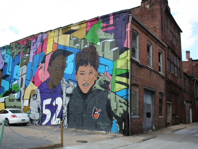 mural of two boys
