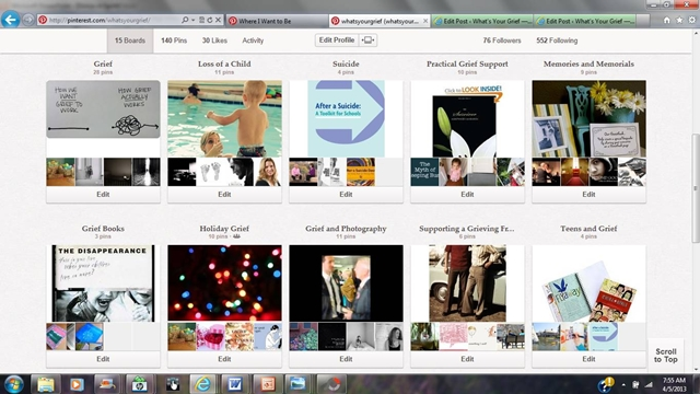 grief and pinterest: what's your grief pinterest boards
