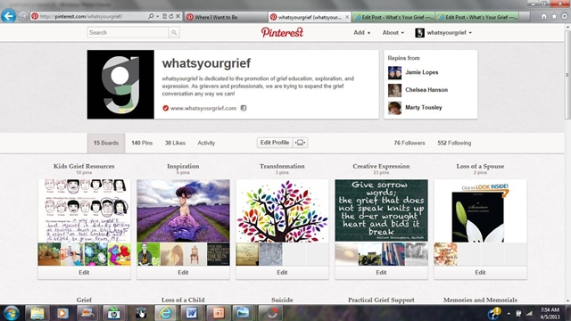 grief and pinterest: what's your grief pinterest