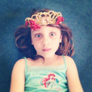 photo of eleanor's daughter wearing a tiara