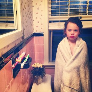 photo of eleanor's daughter after bathtime