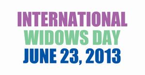 international widows day june 23, 2013