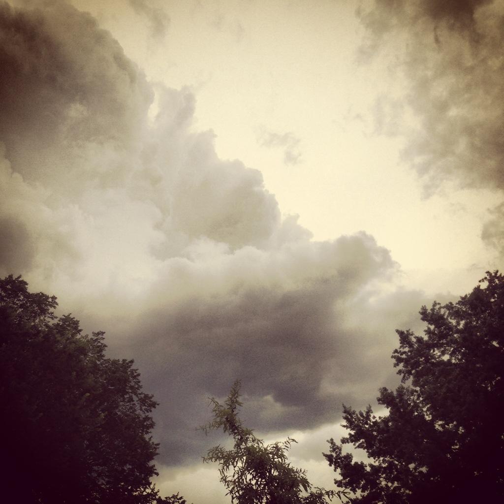 dark, cloudy sky