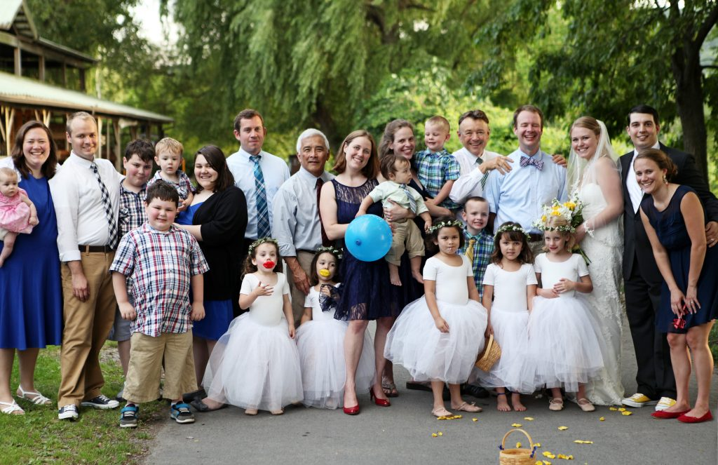 our family at the wedding