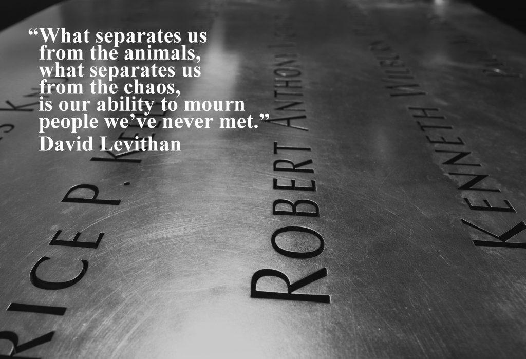 David Levithan 9/11 quote