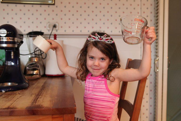making my mother's christmas cookies: children having fun