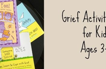 grief activity books for kids ages three to nine