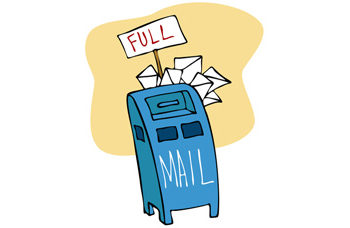 full mailbox - writing letters to loved ones who have died