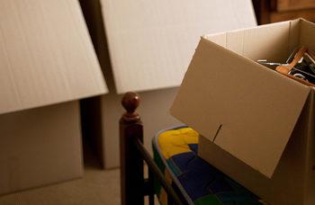 sorting through a loved one's belongings