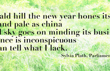 """Parliament Hill Fields Poem: """"On this bald hill the new year hones its edge. Faceless and pale as china the round sky goes on minding its business. Your absence is inconspicuous nobody can tell what I lack."""""""