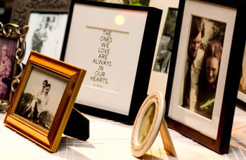 wedding after loss: photo memorial table