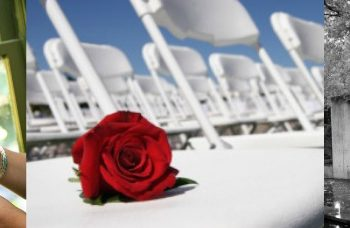 wedding after a loss: rose on an empty chair