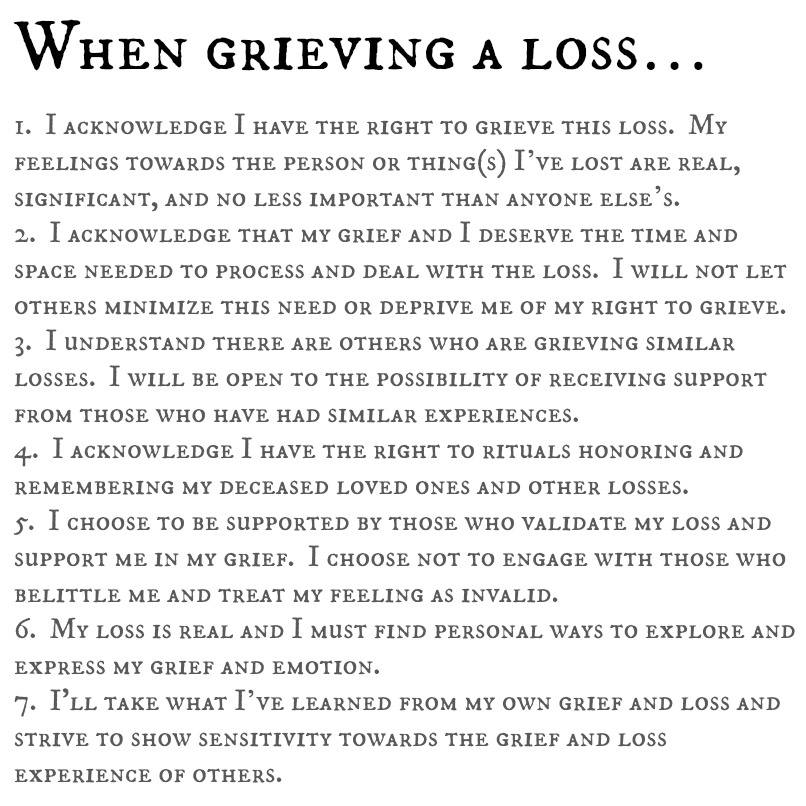 dealing with grief essay