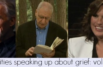 celebrities speaking up about grief