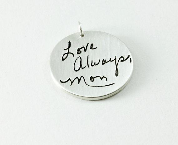 handwritting memorial pendant