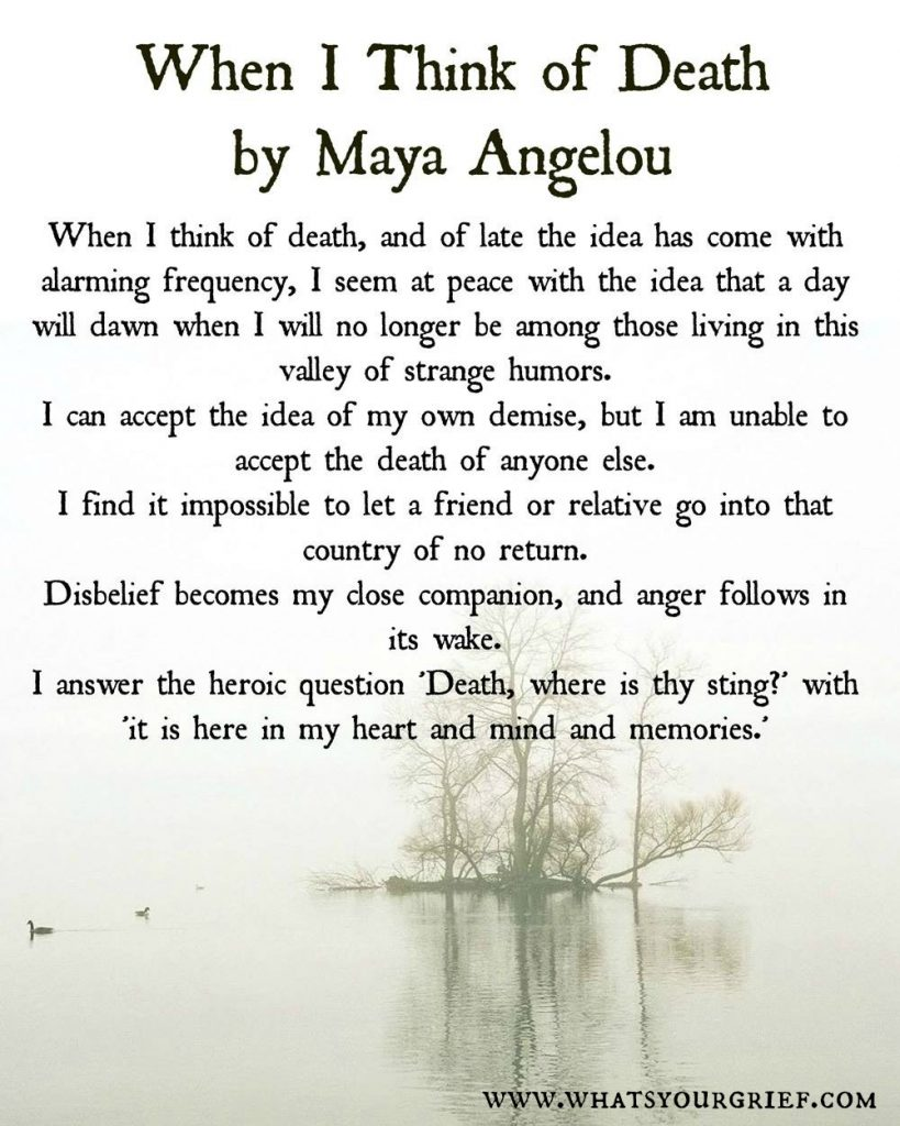 Maya Angelou Quotes About Friendship 64 Quotes About Grief Coping And Life After Loss  What's Your Grief
