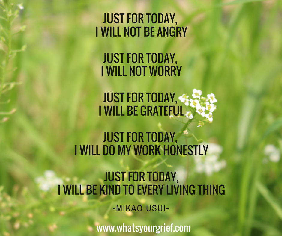 one day at a time grief