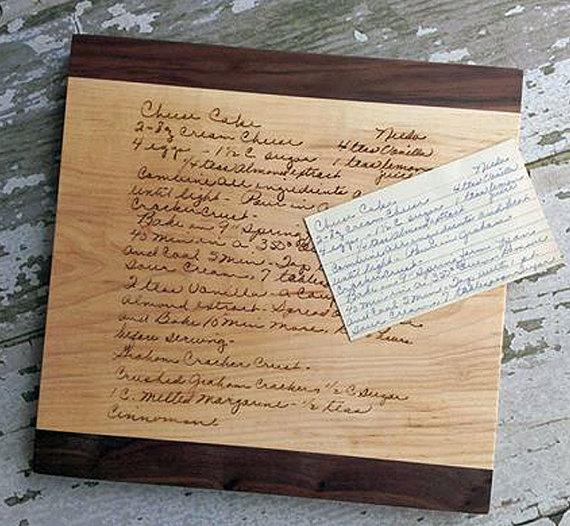 handwriting cutting board