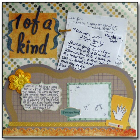 handwriting scrapbook