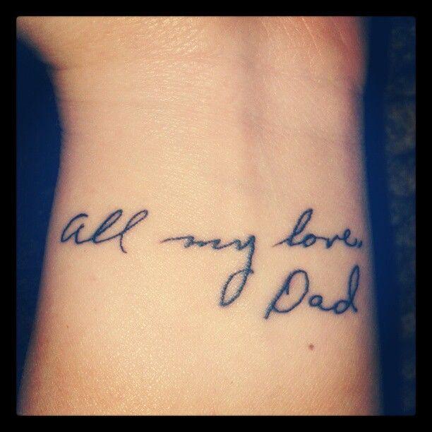 handwriting tattoo