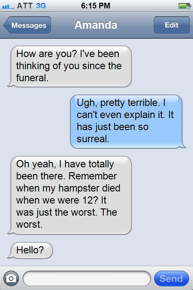 grief alone text