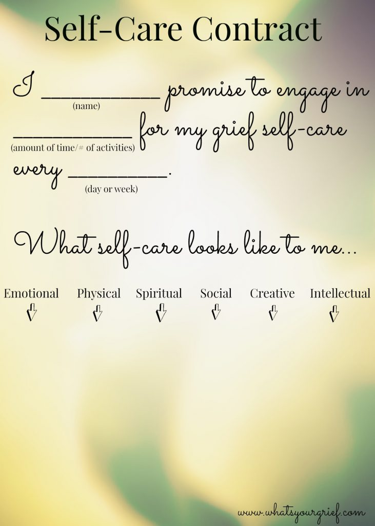 self-care contract example