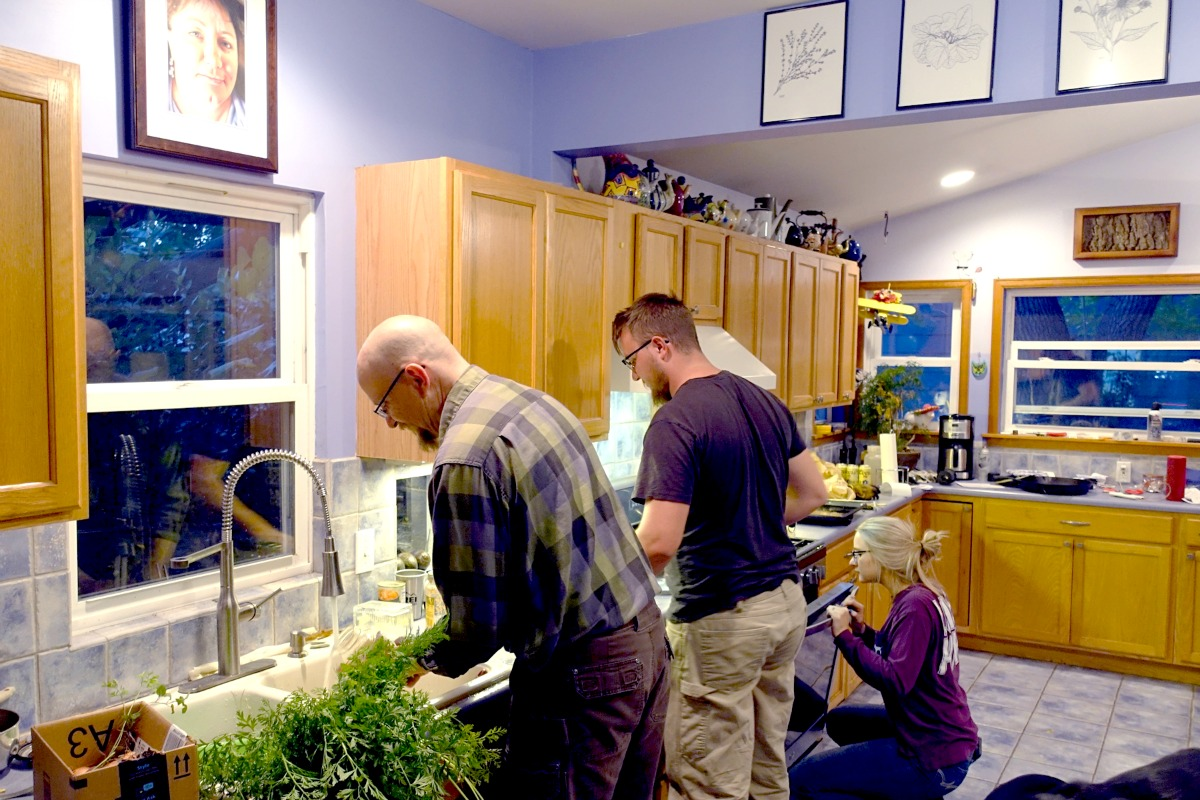 my family in my late wife, Tammy's, kitchen