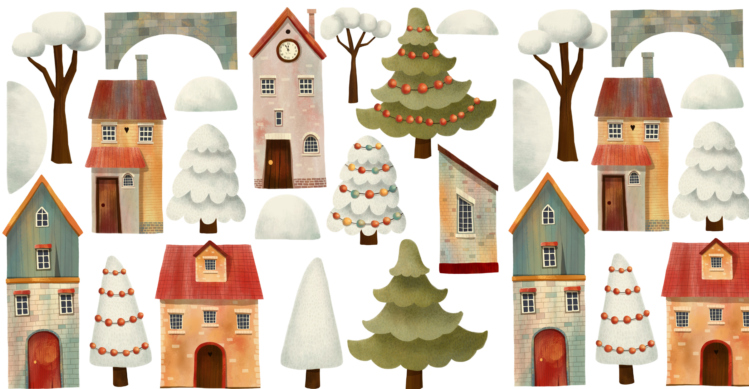 houses in the winter