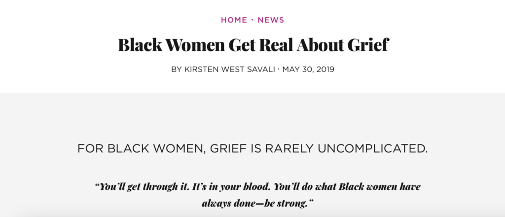 Black Women Get Real About Grief