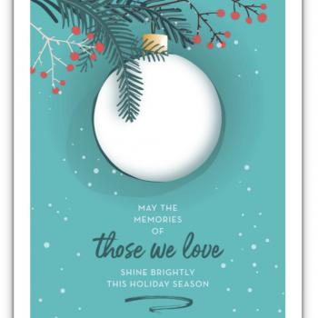 holiday sympathy card